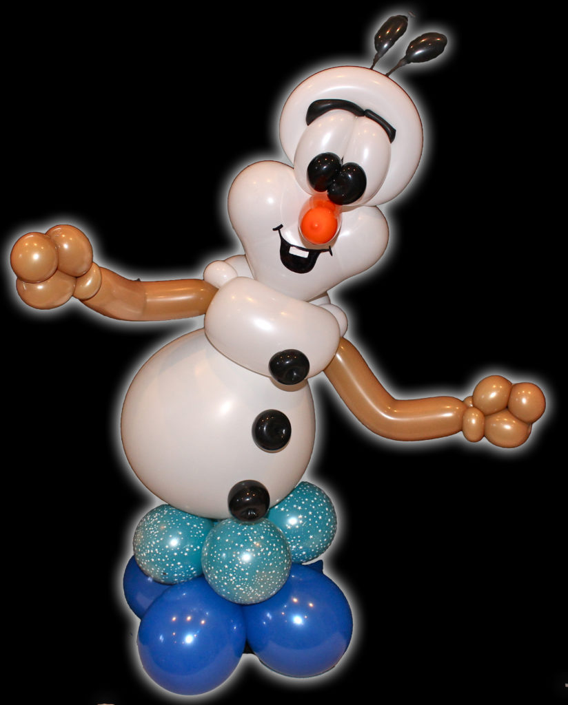 Olaf from frozen balloon centerpiece smarty pants