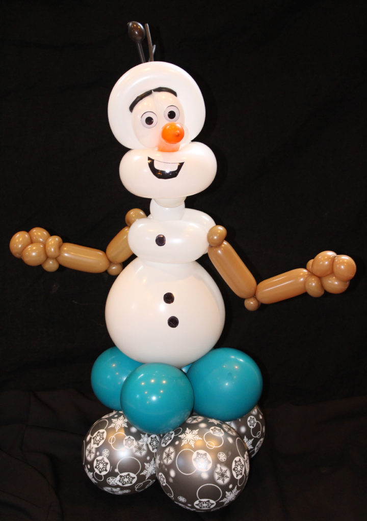 Olaf from Frozen Balloon Centerpiece created by Smarty Pants